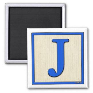 Classic Kids Letter Block J Square Magnet