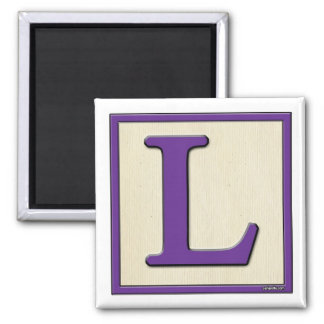 Classic Kids Letter Block L Square Magnet
