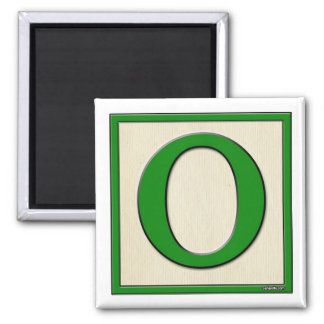 Classic Kids Letter Block O Square Magnet