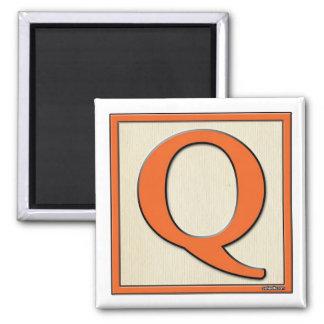 Classic Kids Letter Block Q Square Magnet