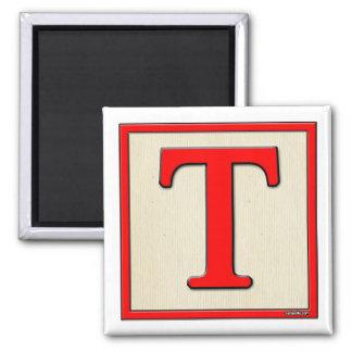 Classic Kids Letter Block T Square Magnet