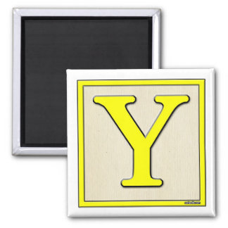 Classic Kids Letter Block Y Fridge Magnets
