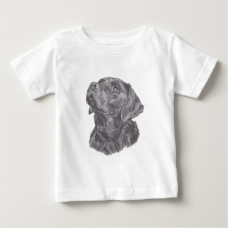 Classic Labrador Retriever Dog profile Drawing Baby T-Shirt