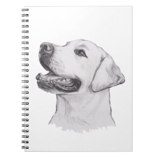 Classic Labrador Retriever Dog profile Drawing Notebooks
