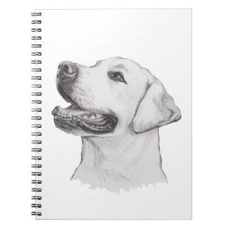 Classic Labrador Retriever Dog profile Drawing Spiral Notebooks