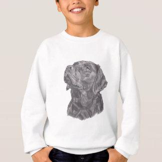 Classic Labrador Retriever Dog profile Drawing Sweatshirt