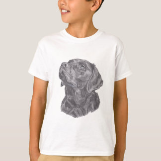 Classic Labrador Retriever Dog profile Drawing T-Shirt