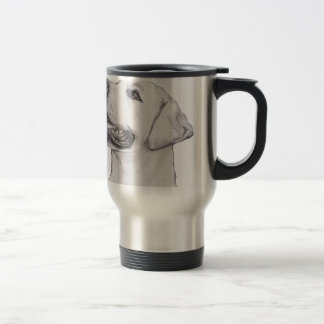 Classic Labrador Retriever Dog profile Drawing Travel Mug