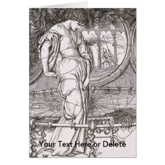 Classic Lady of Shalott Tangled in Webs Card