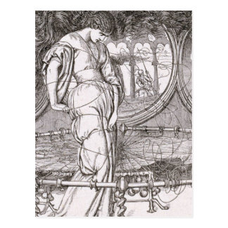 Classic Lady of Shalott Tangled in Webs Postcard