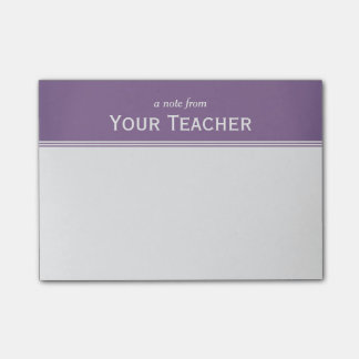 """Classic Lavender Purple Personalised 4"""" x 3"""" Post-it Notes"""