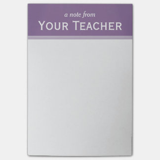 "Classic Lavender Purple Personalized 4"" x 6"" Post-it Notes"
