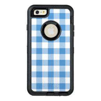 Classic Light Blue and White Checked Pattern OtterBox iPhone 6/6s Plus Case