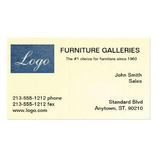 Classic Light Blue Logo Business Cards