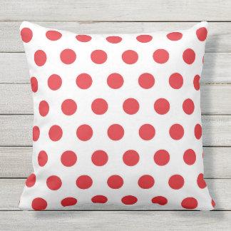 CLASSIC LITTLE RED POLKA DOTS Throw Cushion