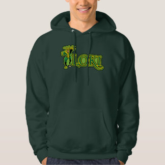 Classic Loki Character And Name Graphic Hoodie