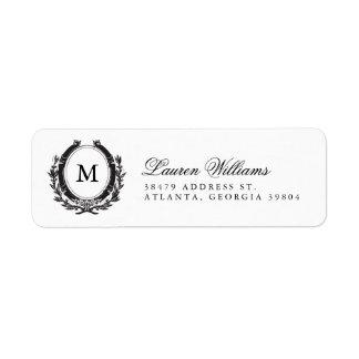 Classic Luxe Monogram Return Address Labels