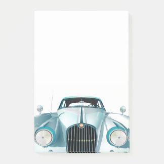 Classic Luxury Car Cartoon Post-it Notes