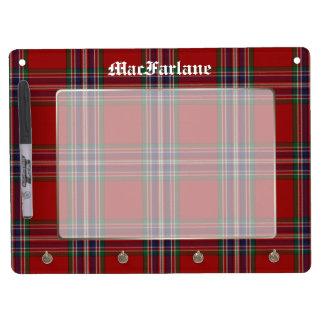 Classic MacFarlane Tartan Plaid Custom Dry Erase Whiteboards