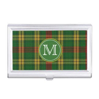Classic MacMillan Tartan Plaid Monogram Business Card Holder