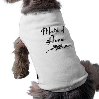 Classic Maid Of Honor Sleeveless Dog Shirt
