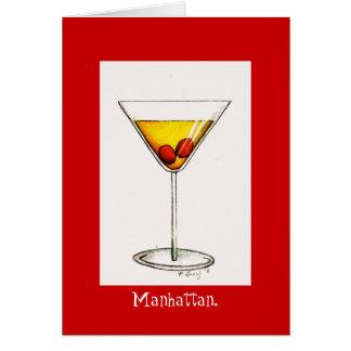 Classic Manhattan Cocktail Cocktails Drink Card