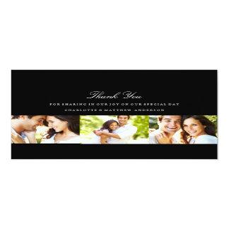 CLASSIC MARRIAGE   WEDDING PHOTO THANK YOU CARD 10 CM X 24 CM INVITATION CARD