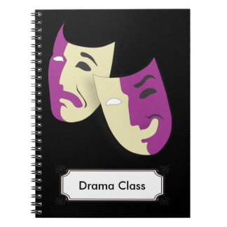 Classic Masks for Comedy and Tragedy Notebooks