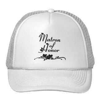 Classic Matron of Honor Mesh Hats