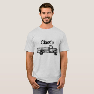 Classic Mens Tshirt with Vintage Truck