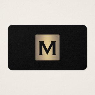 Classic Metallic Label with Monogram Business Card