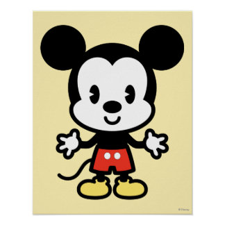Classic Mickey   Cuties Poster