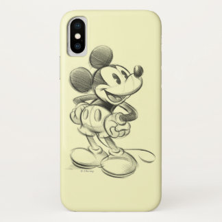 Classic Mickey | Sketch iPhone X Case