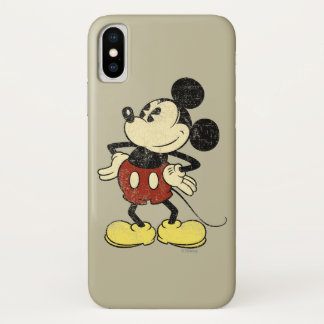 Classic Mickey | Vintage Hands on Hips iPhone X Case