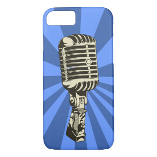 Classic Microphone (Blue) iPhone 7 Case