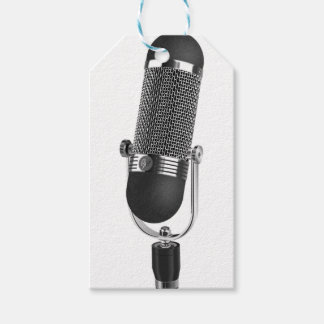 Classic Microphone Gift Tags