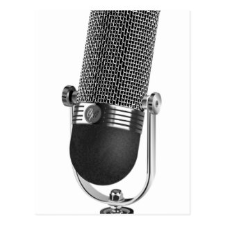 Classic Microphone Postcard