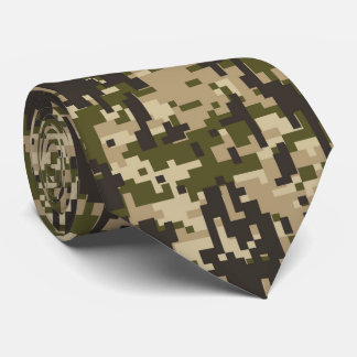 Classic Military Digital Camo Pattern Tie