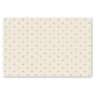 "Classic Mini Black Polka Dots Pattern Tissue Paper 10"" X 15"" Tissue Paper"