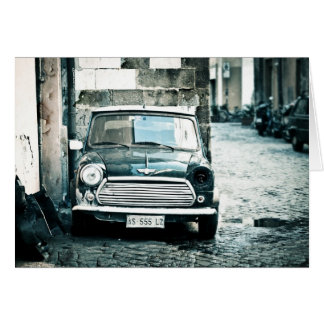 Classic Mini in Rome Card