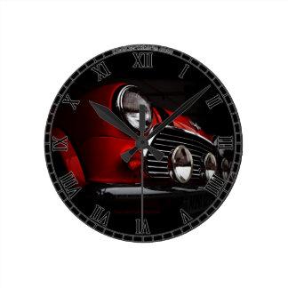 Classic Mini with rally lights Clock