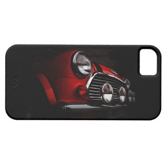 Classic Mini with rally lights iPhone Case iPhone 5 Cover
