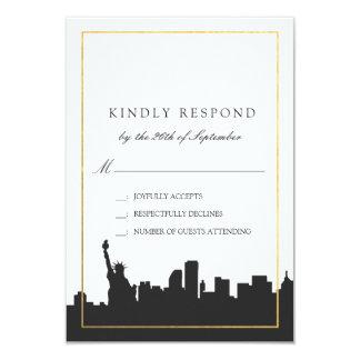 Classic Minimal New York Wedding RSVP Response Card