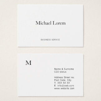 Classic Minimalist Elegant Business Card Template