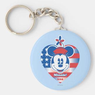 Classic Minnie | Patriotic Key Ring