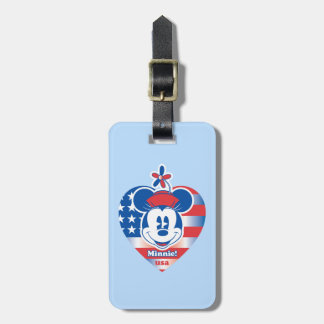 Classic Minnie | Patriotic Luggage Tag