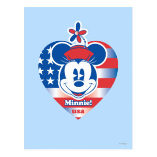 Classic Minnie | Patriotic Postcard