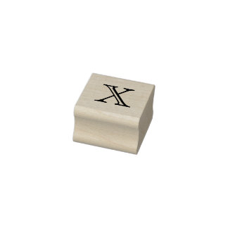 Classic Monogram Letter X 1 Inch Stamp