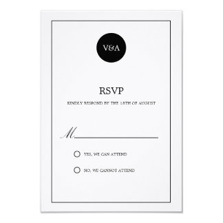 CLASSIC MONOGRAM | WEDDING RSVP CARD