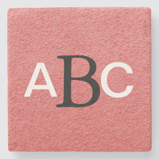 Classic Monogrammed Stone Beverage Coaster
